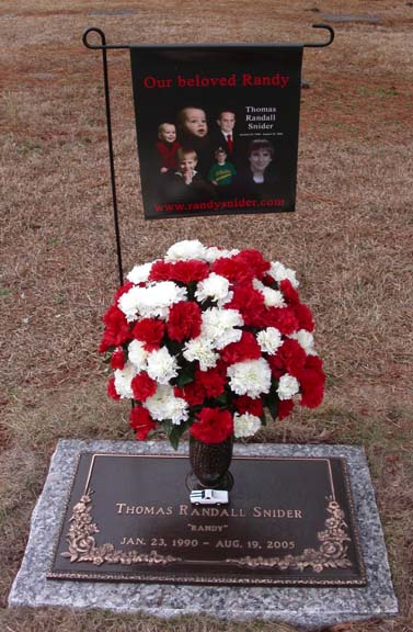 Randy Snider Flowers in Memorium